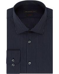 John Varvatos Slim Fit Pinstripe Dress Shirt blue - Lyst
