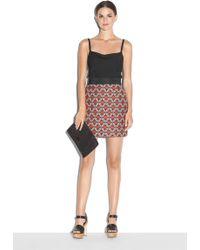 Milly | Geometric Jacquard Modest Mini Skirt | Lyst
