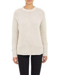 Derek Lam Oversized Stockinette Pullover Sweater - Lyst