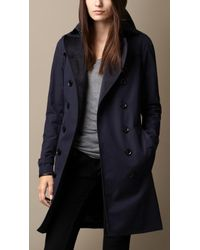 Burberry | Technical Cotton Trench Coat With Warmer | Lyst