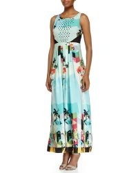Ranna Gill - Sleeveless Floral-Print Dress - Lyst