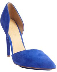 L.a.m.b. Royal Blue Faith Textured Leather Pumps - Lyst