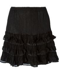Issey Miyake Cauliflower - Pucker Textured Ruffle Skirt - Lyst