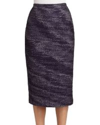 Carolina Herrera Tweed Skirt - Lyst