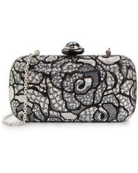 Judith Leiber Jeweled Abstract Floral Minaudiere - Lyst