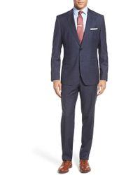 BOSS | 'johnstons/lenon' Trim Fit Check Wool Suit | Lyst