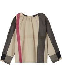 Burberry Half Mega Check Blouse 3-36 Months - Lyst