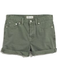 Madewell Green Denim Boyshorts - Lyst