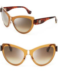 Balenciaga Lensinlens Mirrored Cat Eye Sunglasses - Lyst