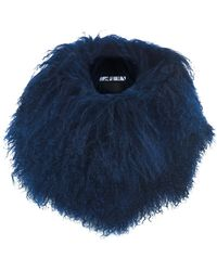 House of Holland - Navy Mongolian Fur Snood - Lyst