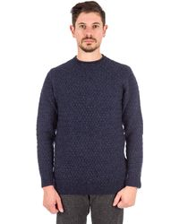 Barbour | Copeland Crew Neck Sweater In Navy | Lyst