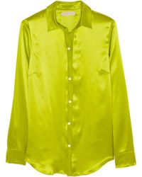 Matthew Williamson Silk-charmeuse Shirt - Lyst