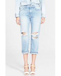 Current/Elliott Women'S Destroyed Boyfriend Jeans - Lyst