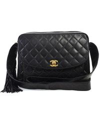 Chanel Pre-Owned Quilted Flap Reporter - Lyst