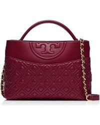 Tory Burch Fleming Mini Satchel - Lyst