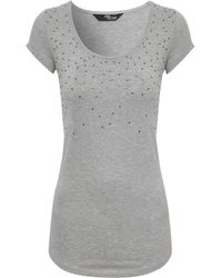 Jane Norman Diamante Embellished Top - Lyst