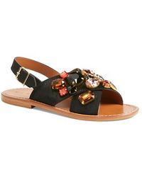 Marni 'Fussbett' Jeweled Sandal - Lyst
