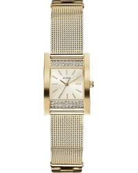 Guess Nouveau Goldtoned Stainless Steel Watch  - Lyst