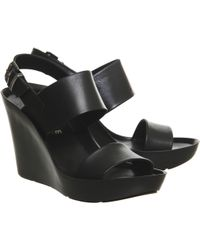 Office Parker High Sporty Wedge black - Lyst