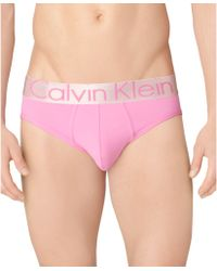 Calvin Klein Mens Steel Microfiber Hip Brief - Lyst