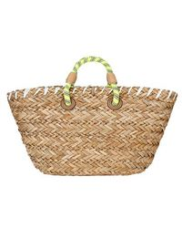 Anya Hindmarch Basket Eyes Embroidered Straw Tote Bag - Lyst