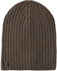 Zadig & Voltaire - Ribbed Cashmere Hat - Green - Lyst