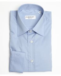 Saint Laurent Light Blue Cotton Point Collar Dress Shirt - Lyst