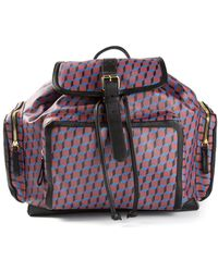 Pierre Hardy Argyle Pattern Backpack - Lyst