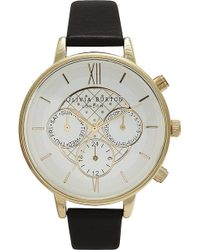 Olivia Burton Ladies Big Dial Chronograph Watch - Lyst