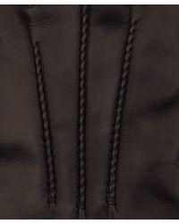 Simon Carter - Dark Brown Leather Gloves - Lyst