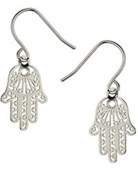 Topshop Cut Out Hand Earrings - Lyst