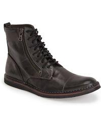 John Varvatos 'Barrett' Plain Toe Boot - Lyst