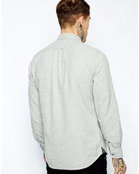 Diesel Shirt Skiku Plain Flannel - Lyst