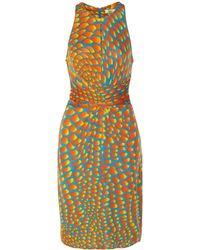 Issa Printed Cady Dress - Lyst