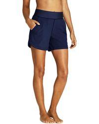 fc2e5f99ad Lands' End Blue Aqua Sport Comfort Waist 9'' Swim Shorts in Blue - Lyst