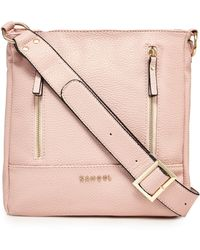 Kangol - Pink Zip Detail Cross Body Bag - Lyst