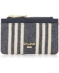 Dune - Navy 'kailor' Striped Canvas Card Holder - Lyst
