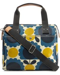 Orla Kiely - Blue Scalloped Floral Print Messenger - Lyst