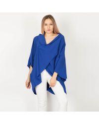 Feverfish - Blue Twist Front Airflow Jacket - Lyst