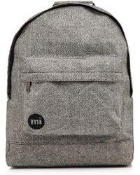 Mi-Pac - Light Grey Herringbone Zipped Backpack - Lyst