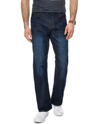 Red Herring - Dark Blue Vintage Wash Bootcut Jeans - Lyst