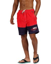 e8fe09f7c1 Speedo Red Logo Print Swim Shorts in Red for Men - Lyst