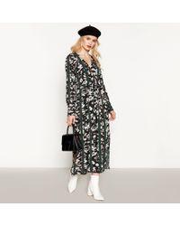 942fc0e46b Marks & Spencer Floral Print Drop Waist Maxi Dress in Black - Lyst