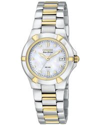 Citizen - Ladies Eco-drive Silver Two Tone Watch Ew1534-57d - Lyst