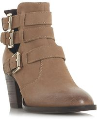 Steve Madden - Yanky Buckled Leather Ankle Boots - Lyst