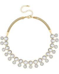 J By Jasper Conran - Designer Gold Crystal Necklace - Lyst