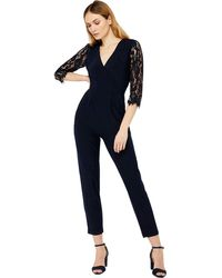 13e6b23468e0 Monsoon Jaime Devore Wide Leg Jumpsuit in Black - Lyst
