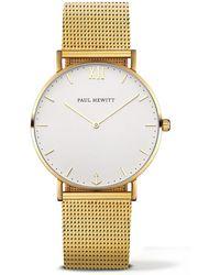 PAUL HEWITT - Ladies Gold 'sailor Line' Analogue Watch Ph-sa-g-st-w-4m - Lyst