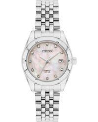 Citizen - Ladies Sliver Bracelet Watch Eu6050-59d - Lyst