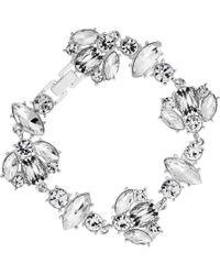 Lipsy - Crystal Cluster Bracelet - Lyst